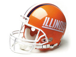 "Illinois Fighting Illini Full Size Authentic ""ProLine"" NCAA Helmet by Riddell"